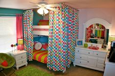 cute curtains Funky Teen Girl Rooms Design, Pictures, Remodel, Decor and Ideas - page 103 curtains around bed only for C?