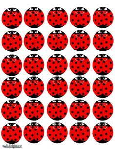 FREE printable Ladybug Peppermint Patties / Kims Kandy Kreations