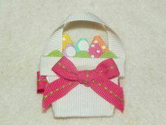 Easter Basket Hair Bows   via jenny thomas acorn tree creations