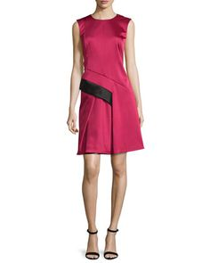 Sleeveless+Two-Tone+Dress,+Fuchsia+by+J.+Mendel+at+Neiman+Marcus+Last+Call.