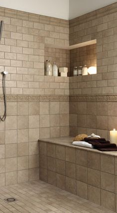 tile shower design Bathrooms Pinterest Tile showers Bath