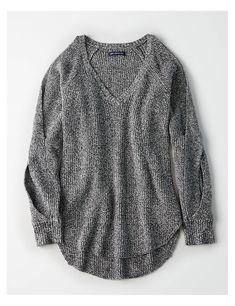 bdee1c0042e6 AE Striped V-Neck Pullover Sweater