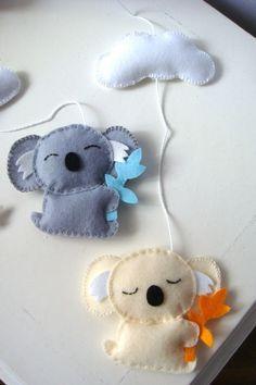 Koala baby nursery mobile.