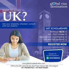 Social Media Poster, Social Media Design, Scholarships In Uk, Australia Visa, Uk Visa, My Dream Came True, Chandigarh, Ielts, Study Abroad