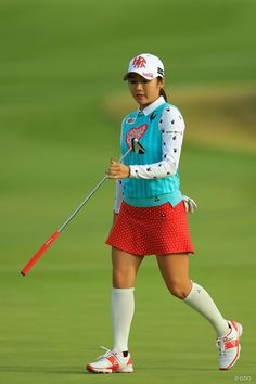 Girl Golf Outfit, Cute Golf Outfit, Girl Outfits, Girls Golf, Ladies Golf, Over Knee Socks, Golf Theme, Golf Wear, Golf Fashion
