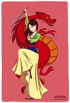 Mulan fan art, Disney princesses collection by ariartna on deviantART