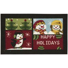 Nourison Essential Elements Happy Holidays Multicolor Accent Rug
