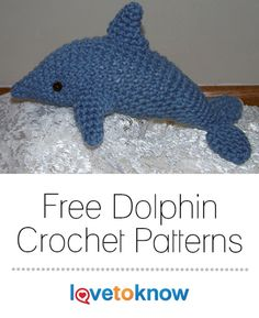 Crochet these sweet dolphin-themed projects to accessorize your child's room. Each crochet pattern is an intermediate level, using shaping techniques for the dolphin toy and color changes for the dolphin motif. #crochet #dolphin #crafts | Free Dolphin Crochet Patterns from #LoveToKnow