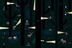 Wrapping paper illustration by Lotta Nieminen for Wrap Magazine — Agent Pekka Helsinki, Lotta Nieminen, Wrap Magazine, Nordic Lights, Isometric Art, Paper Illustration, Best Artist, Wallpaper, Drawings