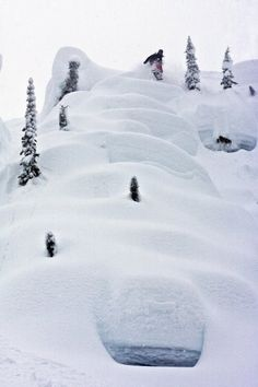 Reminds me of the most fun bit of snowboarding I ever did do at the end of the flaine season with barker