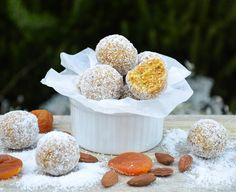 Vegan Gluten free Apricot, coconut and almond bliss balls