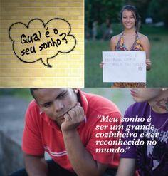 Você tem curiosidade de saber qual é o sonho das pessoas? O Projeto Sonho Brasileiro pesquisou os sonhos dos jovens brasileiros e apontou que o maior sonho de mais da metade dos entrevistados está relacionado à formação profissional ou ao emprego, e apenas 9% tem seu maior sonho baseado no dinheiro. Leia a matéria no site ROTA COACHING http://rotacoaching.com.br/2014/01/pesquisa-qual-e-o-seu-maior-sonho/. E VOCÊ? O que o motiva a viver? Onde você quer chegar?