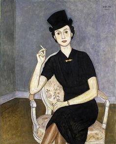 Woman in Black, 1937, by Einar Jolin (Swedish 1890-1976)