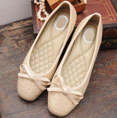 shoes - http://zzkko.com/n199397-013-new-spring-tide-nurse-shoes-flat-shoes-flat-with-bow-shoes-women-shoes-Korean-VIVI-Japanese-autumn-single-shoes.html $15.61