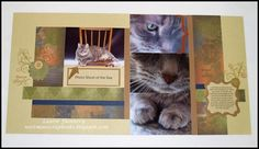 by Laurie Flannery... in Lucky paper   LOVE the use of 4x6 photos!