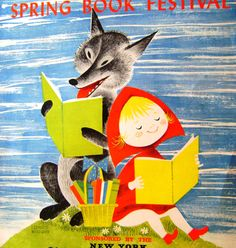Shop for Vintage on Etsy, the place to express your creativity through the buying and selling of handmade and vintage goods. Little Red Hood, Fairy Tale Images, Children's Book Illustration, Retro Illustrations, Red Ridding Hood, Spring Books, Book Festival, Guys And Dolls, Book Posters