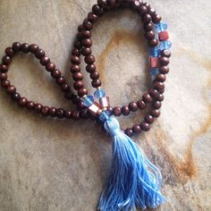 Sunset in July mala necklace
