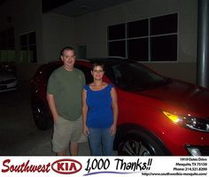 Happy Anniversary to Bill Borchardt on your 2013 Kia Sportage from Christopher Meregini and everyone at Southwest Kia Mesquite!