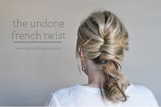 Undone French Twist w. Elegant hair for on the run 5 Minute Hairstyles, Holiday Hairstyles, Elegant Hairstyles, Up Hairstyles, Pretty Hairstyles, Fashion Hairstyles, Straight Hairstyles, Long Haircuts, Trending Hairstyles