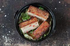 Braised Thai belly pork with crispy crackling