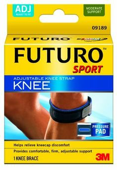 Futuro Sport Adjustable Knee Strap, Adjustable by Futuro. Save 47 Off!. $9.69. Take control of your game. The futuro sport adjustable knee strap helps relieve symptoms related to active knees and other conditions with gentle pressure where it is needed. This knee support is ready to roll. The time out is over. Helps provide relief and compression. Targeted pressure pad. Adjustable strap and buckle for customized fit. Soft-touch materials for comfort.