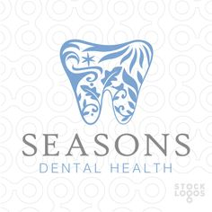 Logo For Sale: Beautiful, elegant and sophisticated dental tooth design with the four seasons creatively represented within the tooth shape Dental Logo, Dental Teeth, Medical Logo, Dental Care, Dental Business Cards, Teeth Logo, Teeth Shape, Dental Office Design, Clinic Design