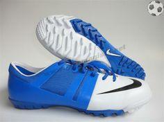 Chaussure de football Nike Launch GS TF Blanc Bleu FT2727