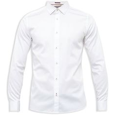 Ted Baker Exon Satin Stretch Slim Fit Button-Down Shirt ($155) ❤ liked on Polyvore featuring men's fashion, men's clothing, men's shirts, men's casual shirts, white, mens white casual shirt, ted baker mens shirts, mens slim fit button up shirts, mens slim fit white shirt and mens slim fit shirts