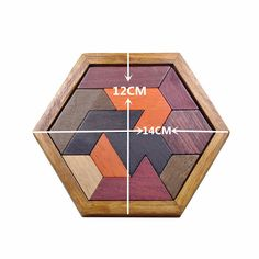 Exquisite Funny Puzzles Wooden Tangram Jigsaw Board Geometric Shape Puzzle Toy