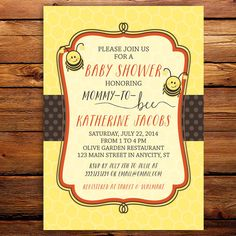 Bumble Bee Printable Baby Shower or Birthday by LittleBeesGraphics, $12.99