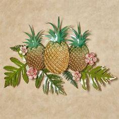 Pineapple Splendor Tropical Metal Wall Art Tropical Bedroom Decor, Tropical Furniture, Tropical Bedrooms, Tropical Interior, Tropical Decor, Tropical Bathroom, Garden Furniture, Outdoor Furniture, Tropical House Design