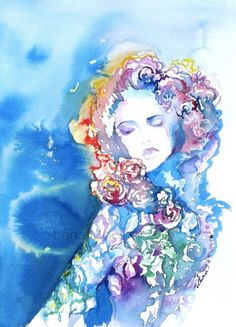 Print from Original Watercolor Fashion Illustration by Lana Moes