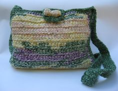 Cross body crochet bagHand made by ColouredAccessories on Etsy