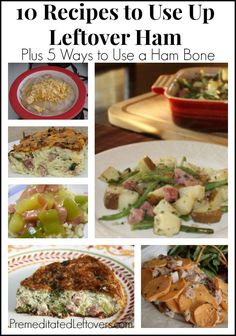 10 delicious recipes to use up leftover ham. The leftover ham recipe round up also includes recipe ideas to use the ham bone.