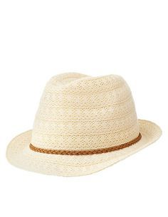 Braided Band Crochet Fedora Hat: Charlotte Russe. #fedora #charlottelook