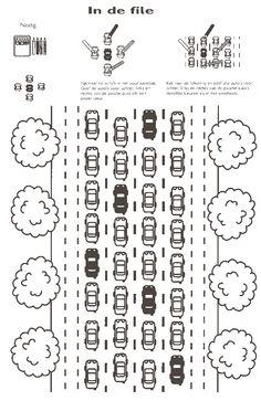 Uit het boek' rekenen met kleuters'...plaatsbepaling.... Transportation, Paper Crafts, Train, App, Projects, Kids, Autos, Cars, Log Projects
