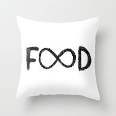FOOD Throw Pillow by Sara Eshak - $20.00