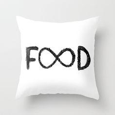 FOOD Throw Pillow by Sara Eshak - $20.00
