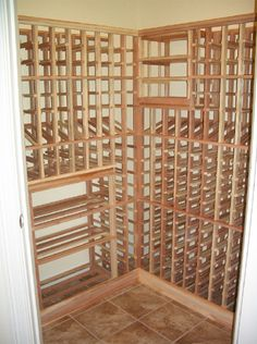 Small but functional, this residential closet wine cellar is the perfect addition for a wine lover with a small area.