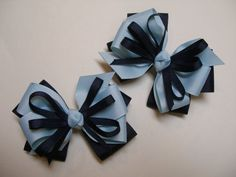 4 inch U Pick Color Back to Shool Hair Bows Pig by HareBizBows