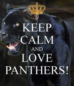 Cat Art... =^. ^=... ❤... By Artist Unknown...Keep Calm and Love Our Little Panthers...