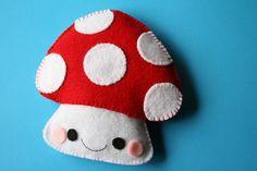 Stitched felt mushroom