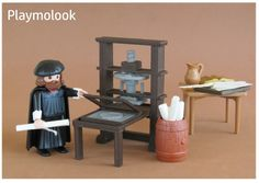 PRINTING PRESS MINIATURE d'imprimerie FIGURE PLAYMOBIL DOESN'T INCL.