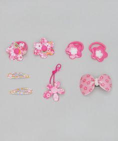 Take a look at this Pink Five-Piece Floral Set by Inca Hair on #zulily today!