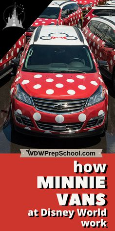 Minnie Vans at Disney World are a great alternative for some families | Learn how they work, what they cost, where they go, and who should consider them | #disneytips #disneytransportation #disneyworld #minnievans