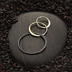 Jump on the mixed metals trend with this tri-finish silver and bronze link! Available at http://www.ninadesigns.com/bali_bead_shop/mixed_metal_three_circle_link/s2823/details/r
