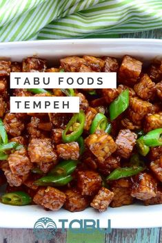 Tempeh is very nutritious. The fermentation process results in natural probiotics agents whilst leaving desirable phytochemicals like soy isoflavones and most of the saponins intact. Vegan Appetizers, Vegan Snacks, Vegan Dinners, Vegan Soups, Vegan Treats, Gluten Free Recipes, Healthy Recipes, Homemade Snickers, Vegan Meal Plans