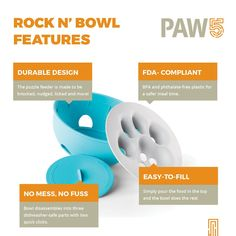 Rock N Bowl Puzzle Feeder Dog Bowl Fun Interactive Enrichment Dog Dish Slow Feeder For Dogs Stops Bloating BPA and phthalatefree plastic Made in the USA -- Would like to know extra, click the image. (This is an affiliate link). How To Stop Bloating, Personalized Dog Beds, Slow Feeder, Dog Puzzles, Buy Pets, Pet Bowls, Pattern Names, Dog Cat, Dishes