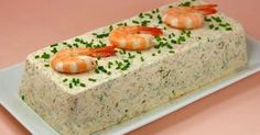 Feast with Thermomix: crab terrine and shrimp Fish Recipes, Seafood Recipes, Cooking Recipes, Cake Recipes, Salmon And Shrimp, Lemon Salmon, Thermomix Desserts, Seafood Appetizers, Sandwich Cake