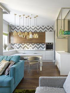 Яркая современная квартира для семьи в Москве | Пуфик - блог о дизайне интерьера